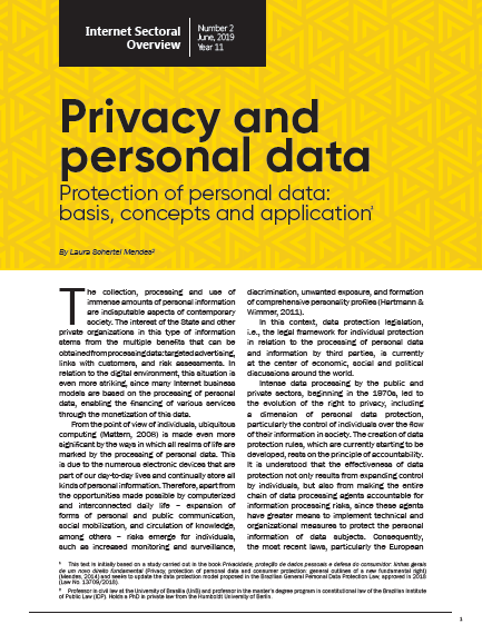 Year XI - N. 2 - Privacy and personal data